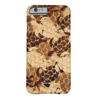 Capa Barely There Para iPhone 6 Madeira de Koa do falso do Hawaiian da tartaruga