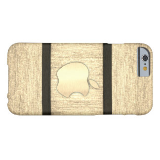 Capa Barely There Para iPhone 6 Madeira lisa caixa embutida lustrada
