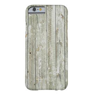 Capa Barely There Para iPhone 6 madeira primitiva do celeiro do país ocidental da