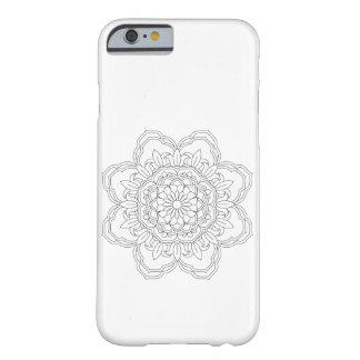 Capa Barely There Para iPhone 6 Mandala da flor. Elementos decorativos do vintage.
