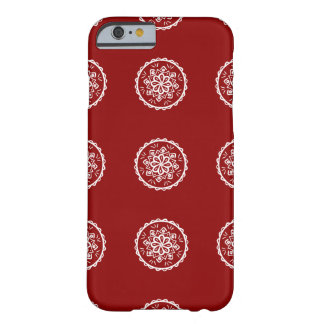 Capa Barely There Para iPhone 6 Mandala da framboesa