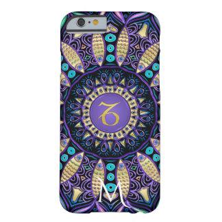 Capa Barely There Para iPhone 6 Mandala do Capricórnio do sinal do zodíaco