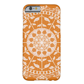 Capa Barely There Para iPhone 6 Mandala do tarte de abóbora