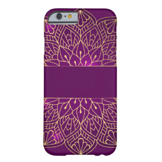 Capa Barely There Para iPhone 6 Mandala floral roxa