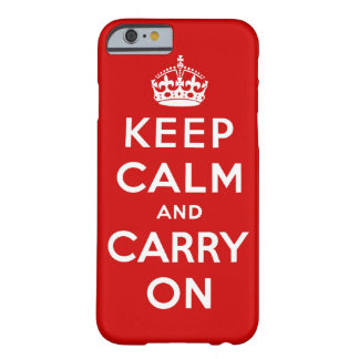 Capa Barely There Para iPhone 6 mantenha a calma e continue o original