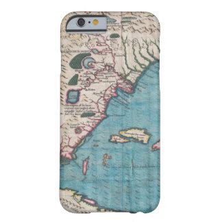 Capa Barely There Para iPhone 6 Mapa antigo de Florida e de Cuba