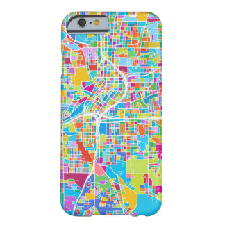 Capa Barely There Para iPhone 6 Mapa colorido de Atlanta