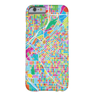 Capa Barely There Para iPhone 6 Mapa colorido de Denver