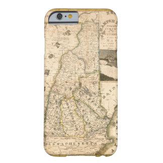 Capa Barely There Para iPhone 6 Mapa do estado de New Hampshire (1817)