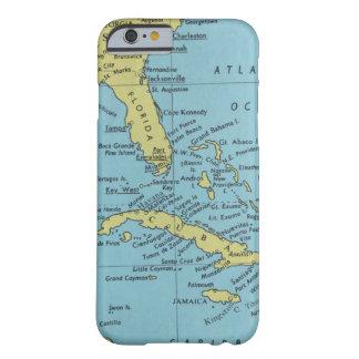 Capa Barely There Para iPhone 6 Mapa do vintage de Florida e de Cuba