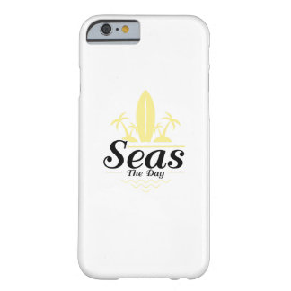 Capa Barely There Para iPhone 6 Mares o surf da velha escola do vintage do dia