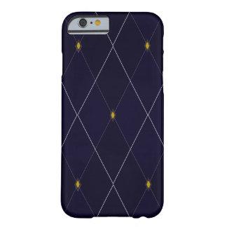 Capa Barely There Para iPhone 6 Marinho brilhante Argyle do diamante