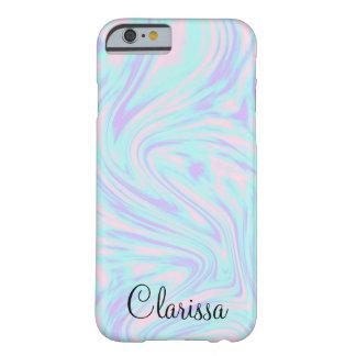 Capa Barely There Para iPhone 6 mármore branco roxo azul cor-de-rosa colorido