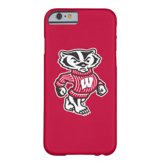 Capa Barely There Para iPhone 6 Mascote Bucky do texugo de Wisconsin |