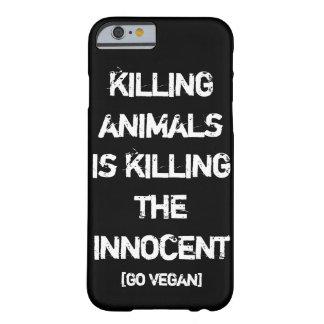Capa Barely There Para iPhone 6 Matar animais é matar o inocente [vai o Vegan]