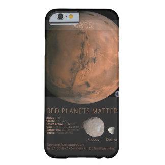 Capa Barely There Para iPhone 6 Matéria vermelha dos planetas