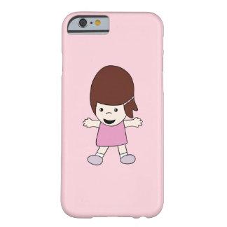 Capa Barely There Para iPhone 6 Menina bonito no caso do iPhone 6/6s do rosa mal