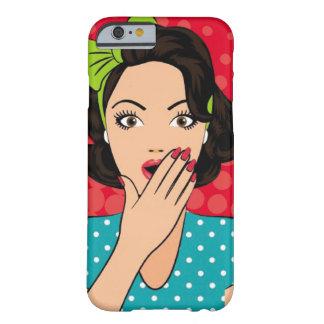 Capa Barely There Para iPhone 6 Menina da forma de Chipkooo