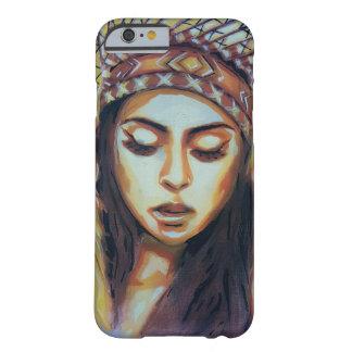 Capa Barely There Para iPhone 6 Menina indiana americana