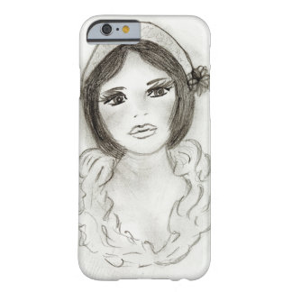 Capa Barely There Para iPhone 6 Menina Ruffled do Flapper