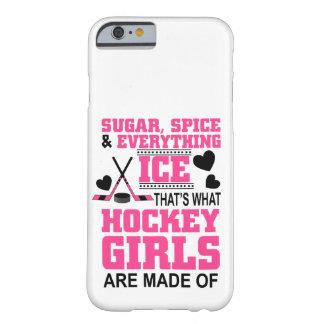 Capa Barely There Para iPhone 6 meninas bonitos do hóquei em gelo do açúcar e da