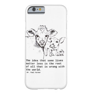 Capa Barely There Para iPhone 6 Mensagem IPhone do Vegan
