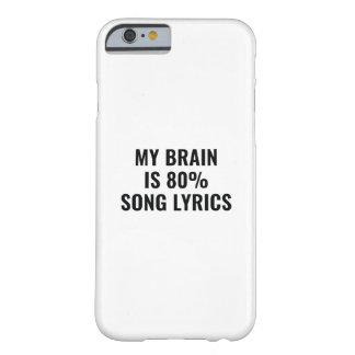 Capa Barely There Para iPhone 6 Meu cérebro é poemas líricos de uma canção de 80