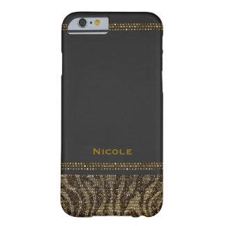 Capa Barely There Para iPhone 6 Moderno chique Glam dos Sequins da faísca do
