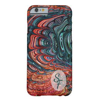 Capa Barely There Para iPhone 6 Monograma abstrato da arte do Fractal de Shell do