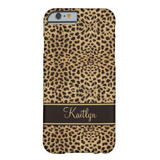 Capa Barely There Para iPhone 6 Monograma chique do impressão do leopardo