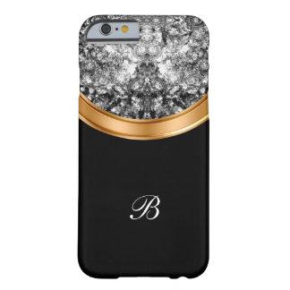 Capa Barely There Para iPhone 6 Monograma de cristal de Bing do falso elegante
