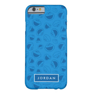 Capa Barely There Para iPhone 6 Monstro do biscoito | mim teste padrão azul