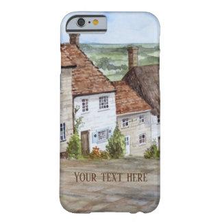 Capa Barely There Para iPhone 6 Monte do ouro, Shaftesbury, pintura da aguarela de