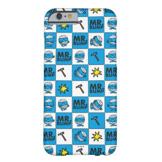 Capa Barely There Para iPhone 6 Mosaico do Sr. Colisão | no teste padrão azul