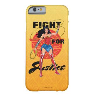 Capa Barely There Para iPhone 6 Mulher maravilha com laço - luta para justiça