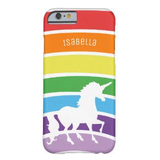Capa Barely There Para iPhone 6 Na moda personalizado do teste padrão do arco-íris