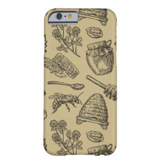 Capa Barely There Para iPhone 6 Natureza natural orgânica do vintage da colmeia da