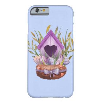 Capa Barely There Para iPhone 6 Ninho bonito do primavera da aguarela