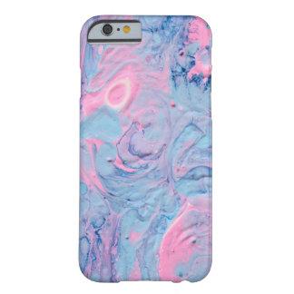Capa Barely There Para iPhone 6 O acrílico azul e cor-de-rosa derrama o design