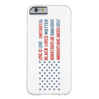 Capa Barely There Para iPhone 6 O amor é iPhone do amor & Samsung encaixota