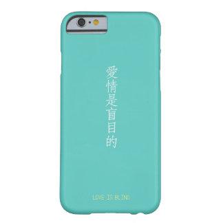 Capa Barely There Para iPhone 6 O amor é tradução chinesa cega