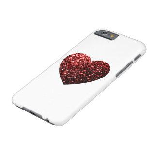 Capa Barely There Para iPhone 6 O brilho vermelho bonito sparkles caso do iPhone 6