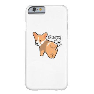 Capa Barely There Para iPhone 6 O bumbum do Corgi persegue o cão de filhote de