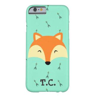 Capa Barely There Para iPhone 6 o cobrir do telefone dos meninos da raposa azul