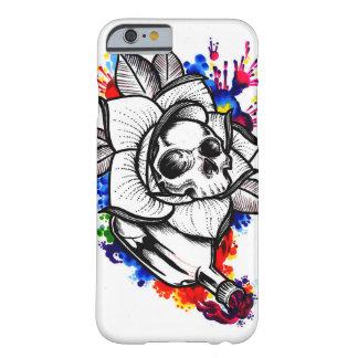 Capa Barely There Para iPhone 6 O crânio colorido e aumentou - caso de Iphone 6/6s