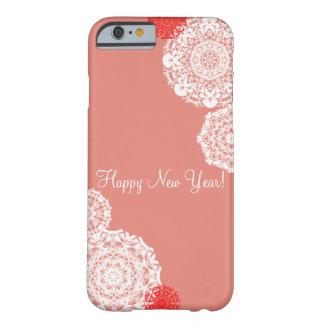 Capa Barely There Para iPhone 6 O feliz ano novo! (rosa)