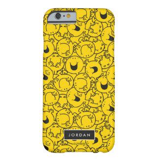 Capa Barely There Para iPhone 6 O grupo do teste padrão amarelo | dos sorrisos
