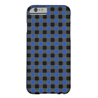 Capa Barely There Para iPhone 6 O guingão azul e preto esquadra customizável
