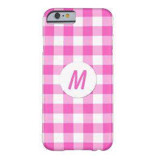 Capa Barely There Para iPhone 6 O guingão cor-de-rosa verifica o monograma