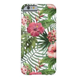 Capa Barely There Para iPhone 6 O hibiscus tropical floresce o teste padrão da